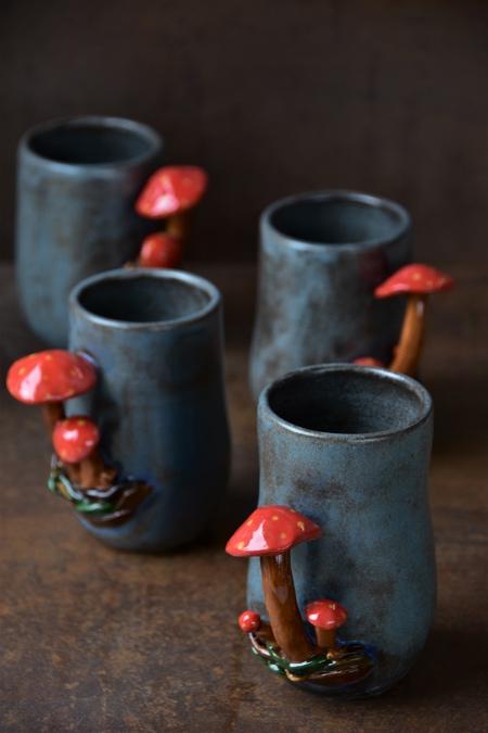 Divine Pine Studios Mushroom Mugs