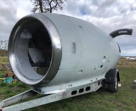 Airplane Engine Camper Trailer