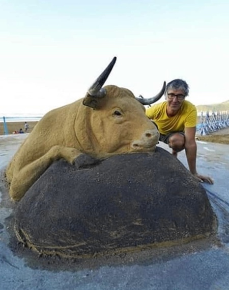 Realistic Sand Sculpture