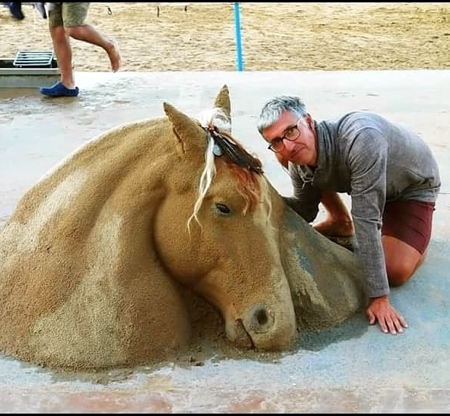 Andoni Bastarrika Realistic Sand Sculpture