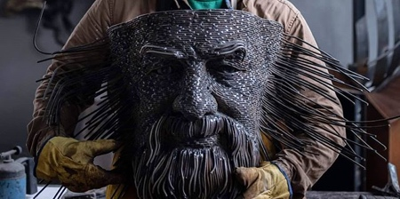 3D Wire Sculptures by Darius Hulea