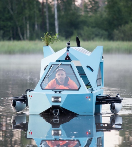 Z-TRITON Amphibious E-Tricycle Camper