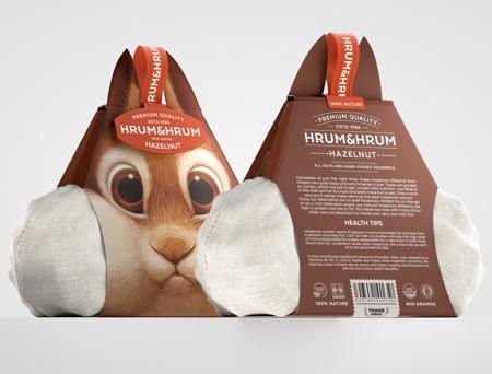 Squirrel Hazelnut Packaging