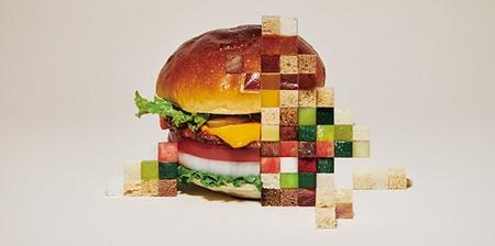 Pixelated Food Art