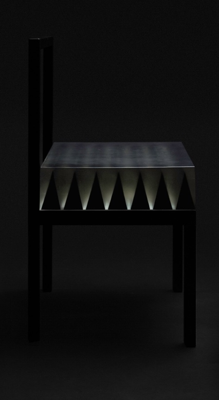 Optical Illusion Spikes Chair