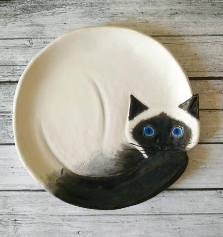 Sleeping Cat Plates