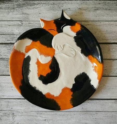 Ceramic Cat Plates