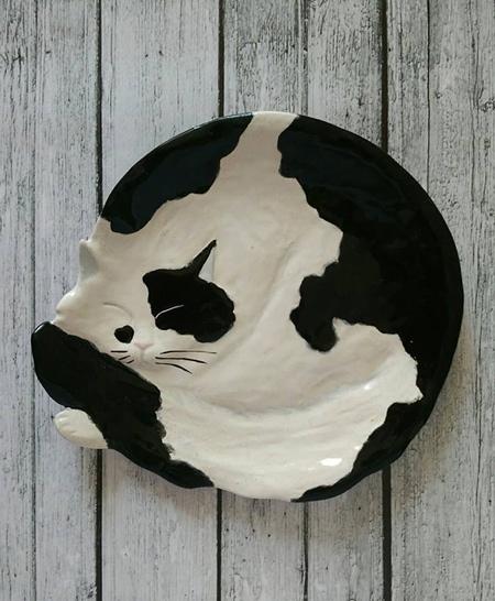 Ceramic Cat Plate