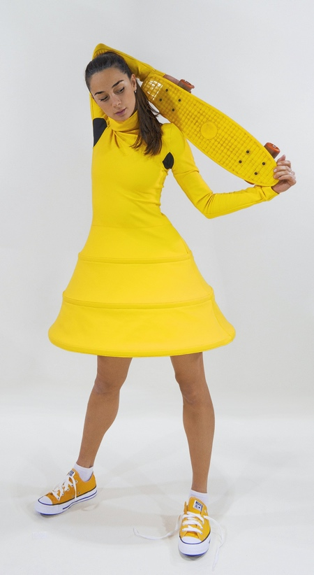 Collapsible Yellow Dress