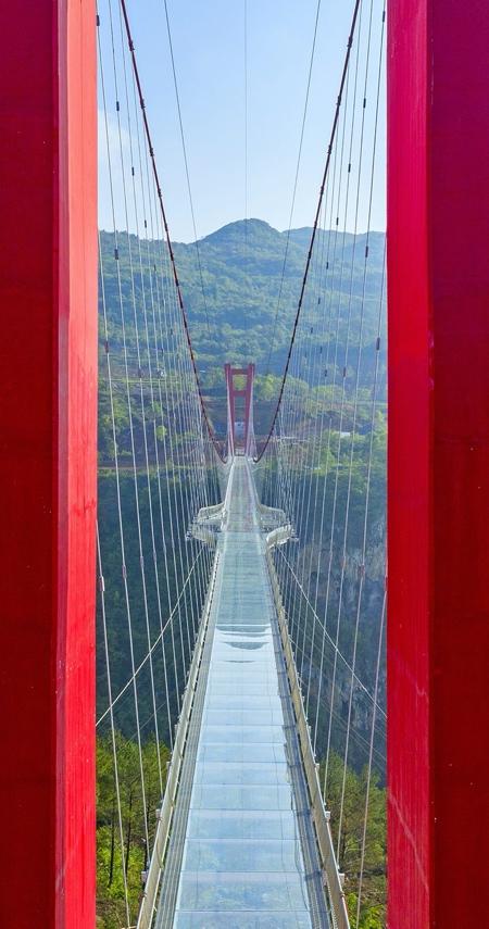 Glass Suspension Bridge