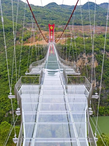 Glass-Bottomed Suspension Bridge