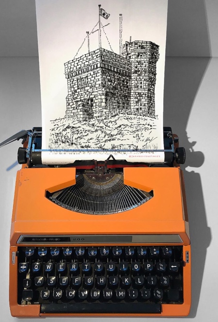Typewriter Artist James Cook
