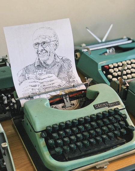James Cook Typewriter Art