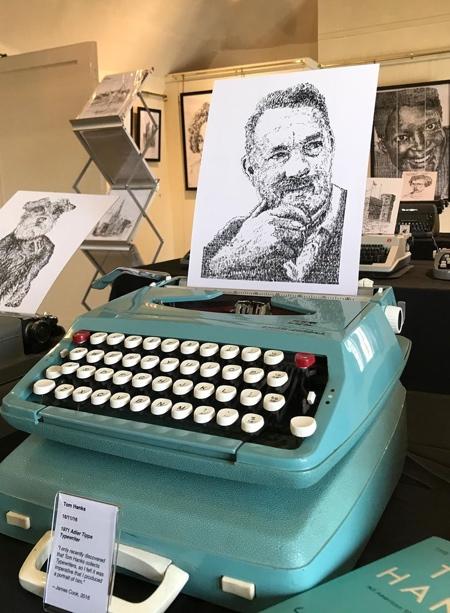 James Cook Typewriter Drawing