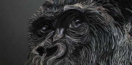3D Paper Strips Art