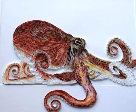 Rebekah Jenkins 3D Paper Strips Art