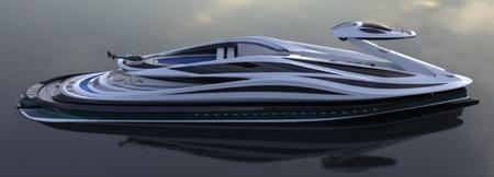 Swan Shaped Yacht