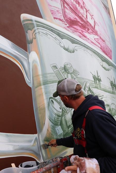 Leon Keer Tea Cups 3D Mural
