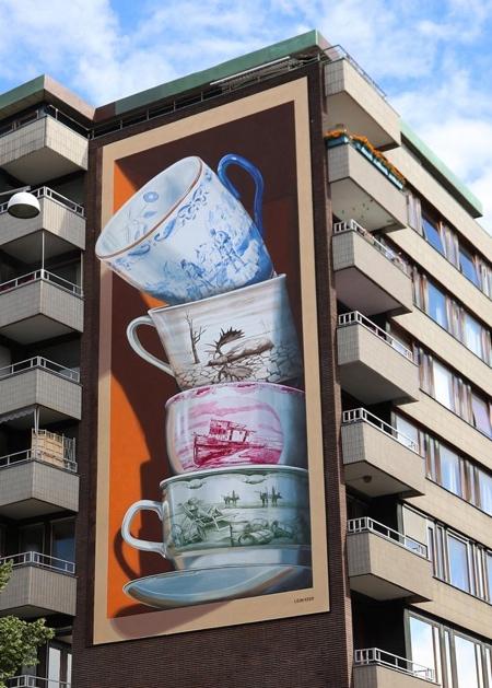 Leon Keer 3D Mural