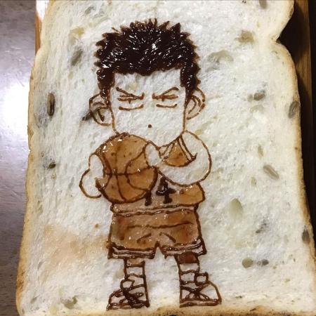 KU Toast Art on Bread