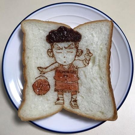 Art on Toast Bread