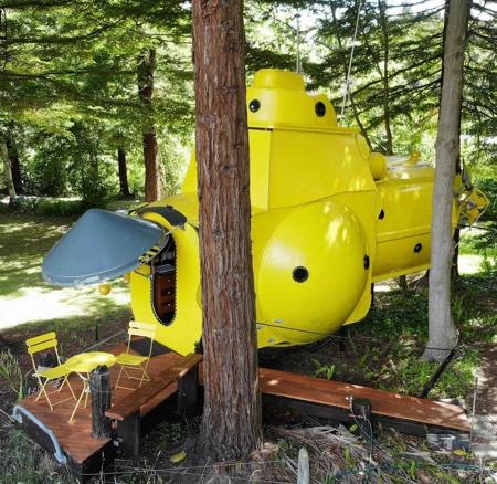 Yellow Submarine Shaped House