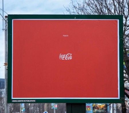 Coca Cola Invisible Bottle Billboard