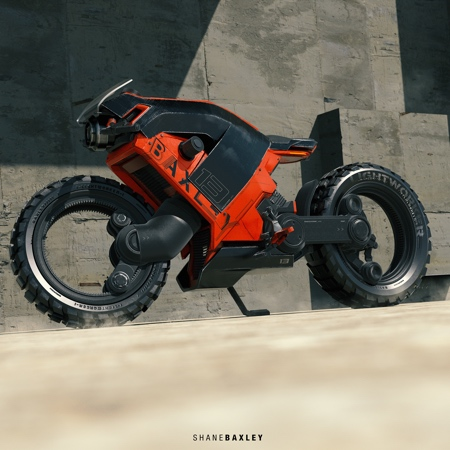 Hubless Motorcycle Concept