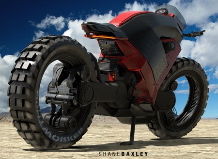 Hubless Electric Motorcycle