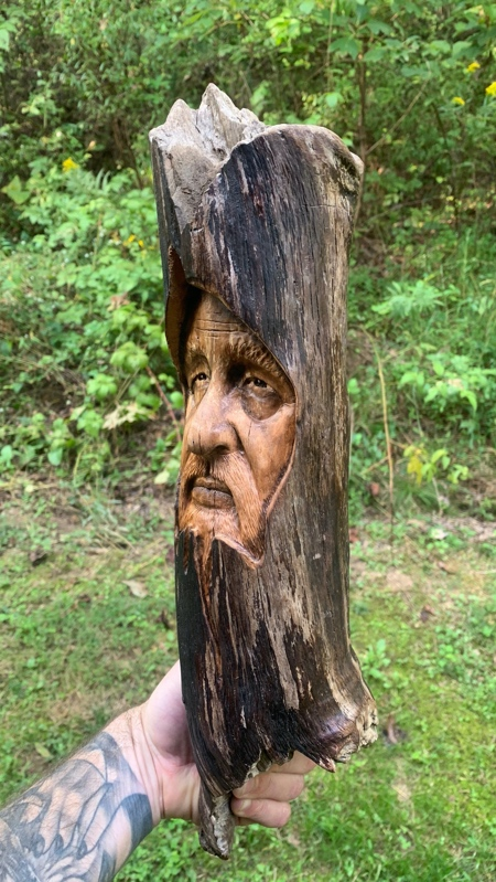Hand Carved Wood Art