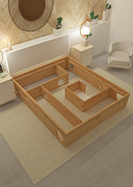 Cat Labyrinth Bed