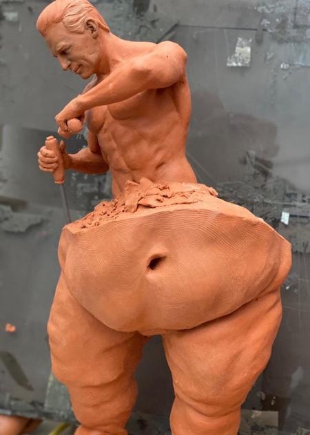 Self Made Man Sculpture