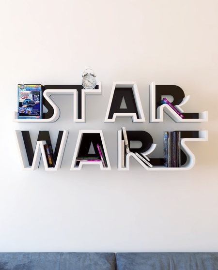 Star Wars Logo Bookshelf