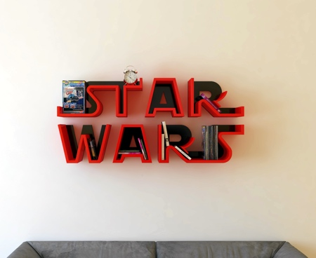 Star Wars Logo Shelf