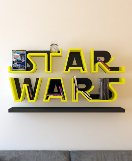 Star Wars Logo Bookcase