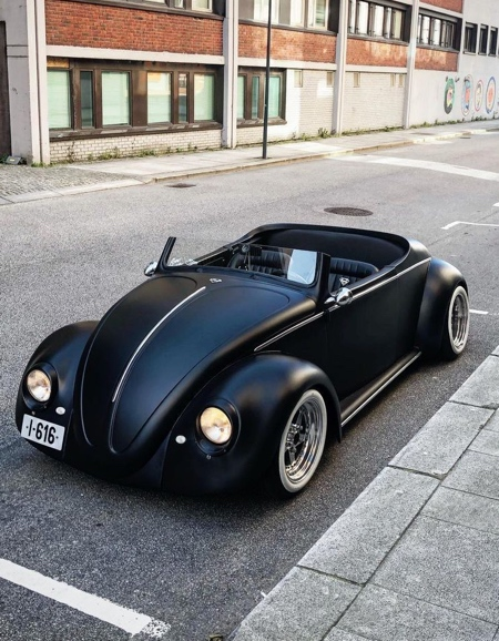 Matte Black Volkswagen Beetle Roadster