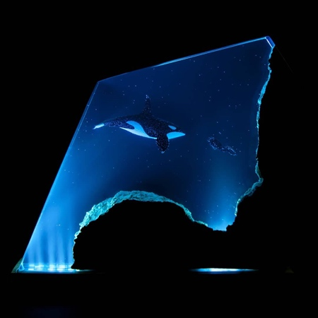 Samil Demirel Wood and Resin Ocean Lamps