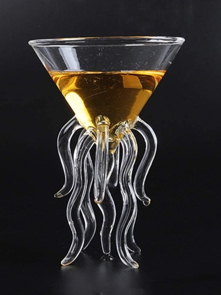Octopus Martini Glass
