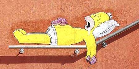 Simpsons Street Art