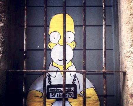 The Simpsons Street Art
