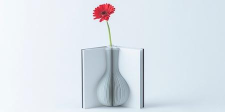 Book Shaped Flower Vase