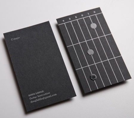 Guitar Instructor Business Card