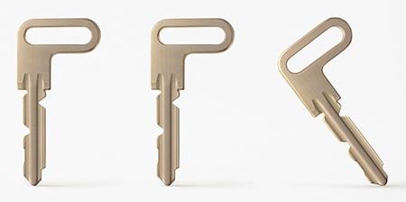 L Shaped Door Key