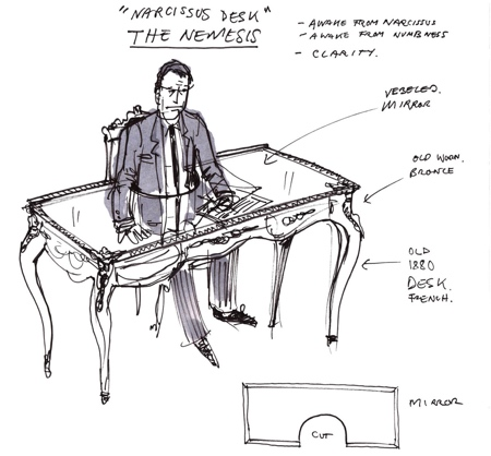 Sebastian Errazuriz Narcissus Desk