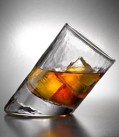 Slanted Drinking Glass