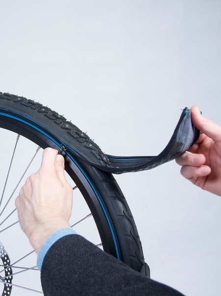 Zip-on Bicycle Tire