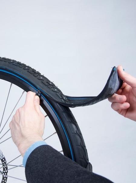 Zip-on Bicycle Tire