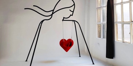 Heart Shaped Indoor Swing