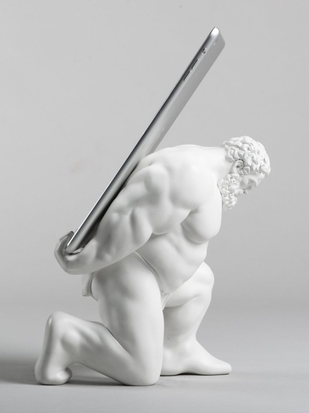 Statue iPad Holder