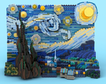 LEGO The Starry Night